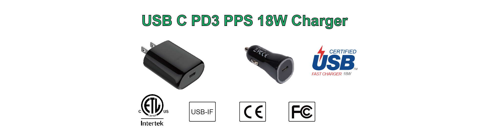 USB C PD3 PPS 18W Charger